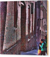 The Post Alley Gum Wall Wood Print