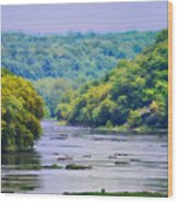 The Potomac Wood Print by Bill Cannon