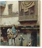 The Pottery Seller In Old City Wood Print