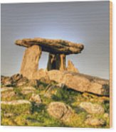 The Poulnabrone Dolmen Wood Print