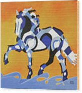 The Power Of Equus Wood Print