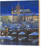 The Prague Panorama Wood Print