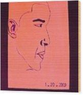 The President Barack Obama. Wood Print