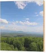 The Presidential Range From The Watchtower At Weeks State Park Wood Print