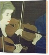 The Prettiest Violinist In The Orchestra Wood Print