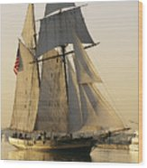 The Pride Of Baltimore Clipper Ship Wood Print by George Grall