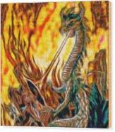 The Prince Battles The Dragon Wood Print