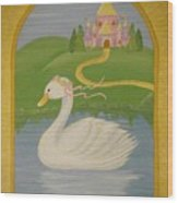The Princess Swan Wood Print