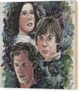The Princess, The Knight And The Scoundrel Wood Print