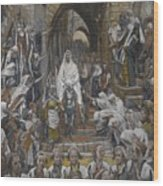 The Procession In The Streets Of Jerusalem Wood Print by Tissot