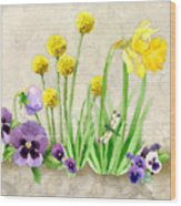 The Promise Of Spring - Dragonfly Wood Print