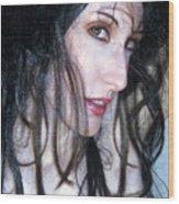 The Promise -self Portrait Wood Print