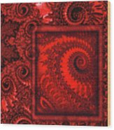 The Proper Victorian In Red  Wood Print