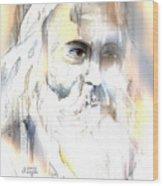 The Prophet Wood Print by Arline Wagner