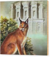 The Protector Of The City Of Petra Wood Print