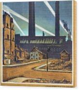 The Proud City - London Underground, London Metro - Retro Travel Poster - Vintage Poster Wood Print