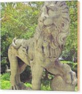 The Proud Lion  Wood Print