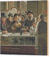 The Public Bar Wood Print by John Henry Henshall