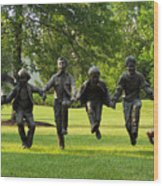 The Puddle Jumpers At Byers Choice Wood Print