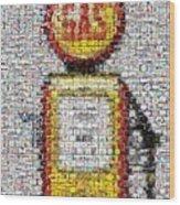 The Pump Mosaic Wood Print
