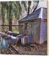 The Pumphouse Wood Print by Douglas Barnard