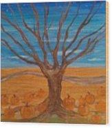 The Pumpkin Tree Wood Print