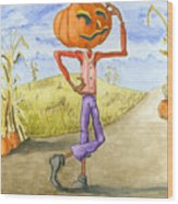 The Pumpkinhead Wood Print