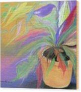 The Purple Bird Wood Print
