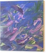 The Purple Dolphins Wood Print