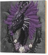 The Purple Dragon Wood Print