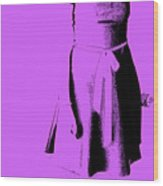 The Purple Dress Wood Print