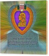 the Purple Heart Wood Print