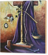 The Purple Robe Wood Print