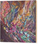 The Purple Stream Wood Print