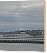 The Puyallup Ferry In Seattle Wood Print