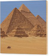 The Pyramids In Egypt Wood Print