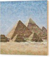 The Pyramids Of Giza Wood Print