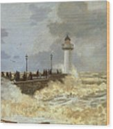 The Quay At Le Havre Wood Print