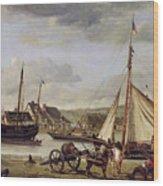 The Quay At Rouen Wood Print