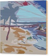 The Quay-seaside Wood Print