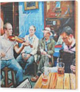 The Quay Players Wood Print