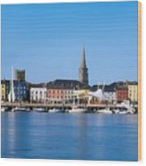 The Quays, Wexford, County Wexford Wood Print