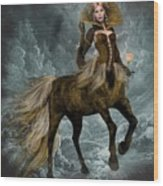 The Queen Horse Wood Print
