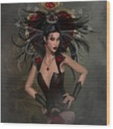 The Queen Of Hearts Wood Print