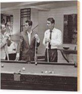 The Ra Pack Sammy Davis Jr, Frank Sinatra Dean Martin Wood Print