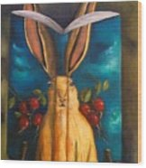 The Rabbit Story Wood Print