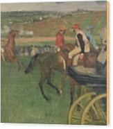 The Race Course Wood Print by Edgar Degas