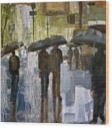 The rain came Wood Print