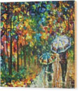 The Rain Of Childhood Wood Print