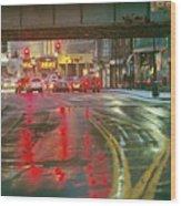 The Rain Painting Wood Print